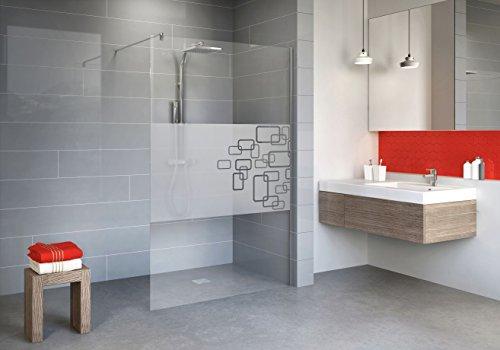 Schulte D329110 41 340 Paroi de douche fixe à l'italienne, Walk In anti-calcaire, verre de sécurité décor Softcube, 120 x 190 cm