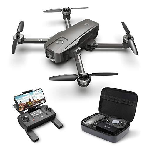 Holy Stone ドローン GPS搭載 折り畳み 4K広角カメラ付き フライト時間26分 ブラシレスモーター 収納ケース付き オートリターンモード フォローミーモード オプティカルフロー 高度維持 ヘッドレスモード 2.4GHz モード1/2自由転換 国内認証済み HS720 (グレー)