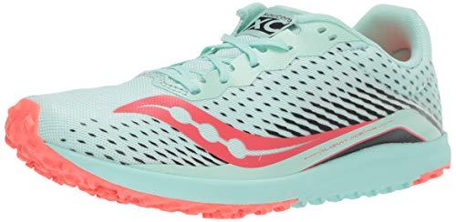Saucony Women's Kilkenny XC8 Flat Track Shoe, Mint/Vizi Coral, 7 Medium US