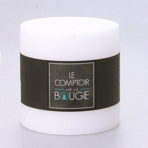 Bougie ronde Rustic - Diam. 10 cm - Blanc
