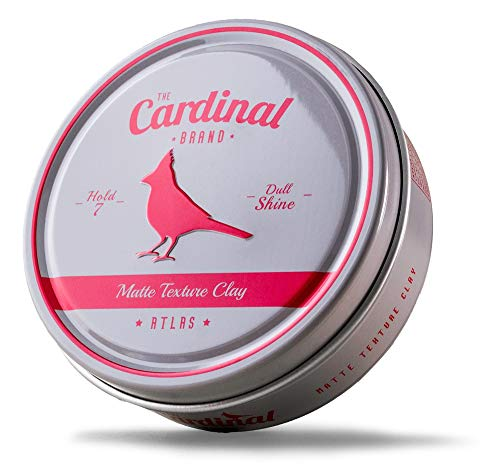 The Cardinal Brand Atlas Matte Texture Clay 3.4 Ounce is an Ultra Lightweight, Matte Hair Clay, Medium to Firm Hold, Thickening, Volume Building, Hair Styling and Grooming Product for Men and Women