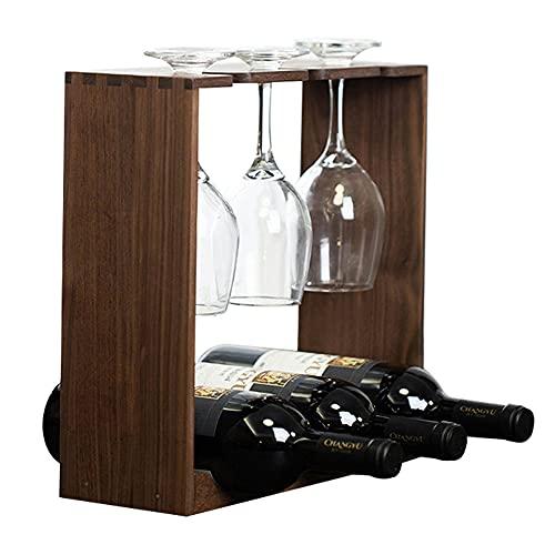 Estantería de Botelleros Madera Botellero Verticales para 3 Botellas con Soporte de...