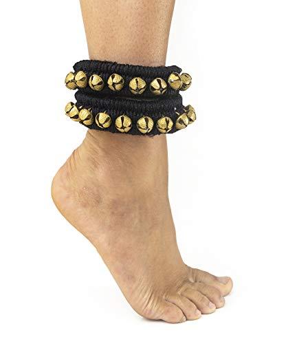 Baeres Indische Fußschellen Glöckchen Im 2er Set Fußkettchen (schwarz)