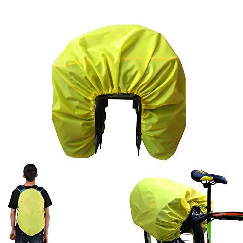 Regenschutz für Schulrucksäcke, Wasserdichte Regenhülle ,Wasserabweisende Korbabdeckung,Fahrrad hinten Sitz Tasche Regenhaube für Radfahren Outdoor Camping