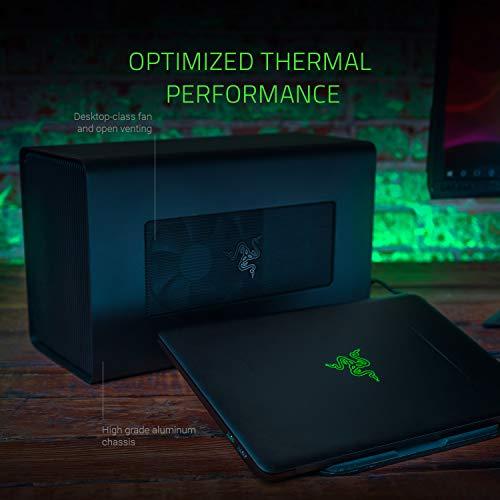 Razer Core X Chroma: Thunderbolt 3 Externes Grafikkarten Gehäuse (eGPU) für Windows 10 und Mac (Externe Grafik-Lösung für Laptops mit RGB Chroma Beleuchtung) Schwarz