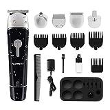 SUPRENT Cordless Beard Trimmer Kit, 5 in 1 Multi-functional Body Groomer Kit of