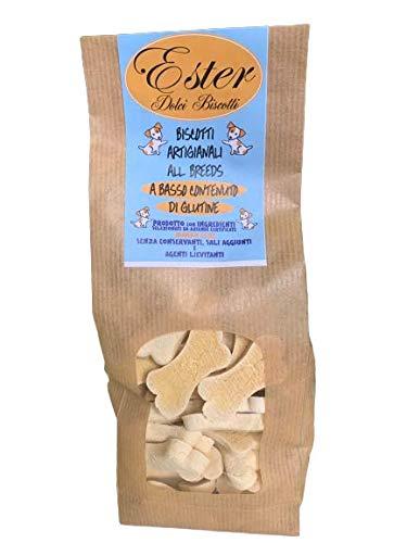 Petgnam Ester 500g Snack per Cani Biscotti Artigianali a Forma di Osso Naturali Senza Glutine Fatti in Panificio
