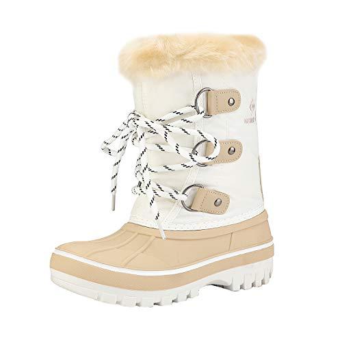 Kids Girl White Fur Boots