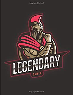 LEGENDARY GAMER: Journal and Notebook, Perfect for Video Game Fans - Size (8.5 x 11 inches) with lined pages - Ideal as a ...