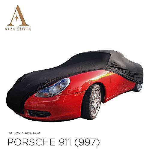 Star Cover AUTOABDECKUNG SCHWARZ Porsche 911 (997) SCHUTZHÜLLE ABDECKPLANE SCHUTZDECKE