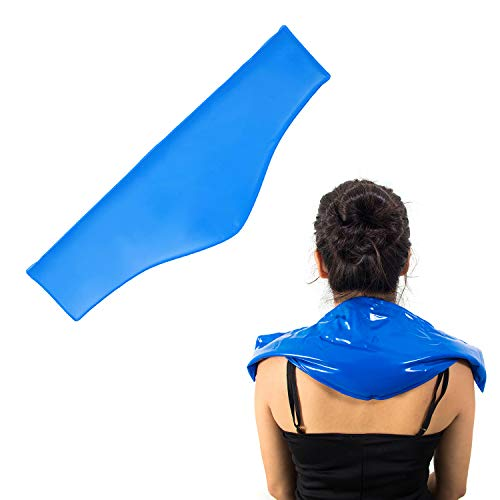 Neck Cold Pack - Reusable Therapeutic Ice Packs - Physical Therapy Gel Wraps for Necks & Shoulders - Flexible Pain Wrap