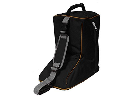 Tahoe Tack Triple Layer Padded Western Boot Carry Bag, Black/Gold Trim
