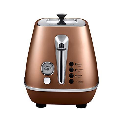 ZHongWei - Toaster 2 Scheiben Toaster, Frühstücksmaschine Home Vollautomatisch Mit Staubschutz Mini Toaster Frühstücksmaschine (Color : Gold)
