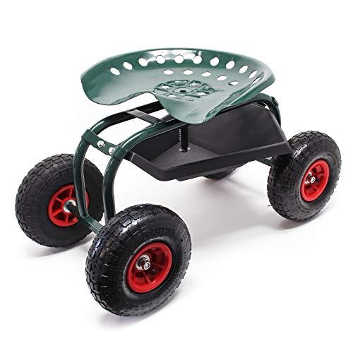 Rollsitz Werkstattwagen bis 150kg belastbar Gartenwagen Fahrbar Rollwagen Arbeitssitz Gartensitz