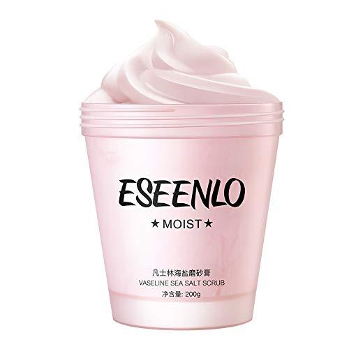 Qianren-Eis Meersalz Körperpeeling 200G Mit Vaseline, Körperpeelingsalz entfernen Sie trennen von Haut, machen Sie die Haut weich und glatt