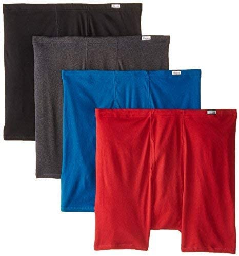 Hanes 043935493608 Mens Tagless Boxer Briefs with ComfortSoft Waistband44; Black - 3XL - Pack of 4