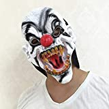 WLDSW Halloween mask Halloween Scary Clown Latex Mask, Horror Toy Mask, Dance Party, Tidy Funny Clown Full Head Mask
