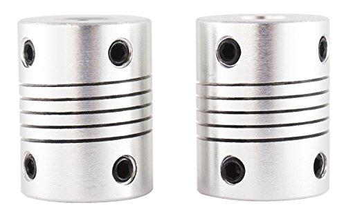 3D FREUNDE 2 Stk. flexible Kupplung Wellen Verbindung 5 auf 8mm Nema 17 Schaft makerbot mk8, Anet A8/A6, RepRap, mendel, Prusa i3 shaft coupler 3D Drucker …