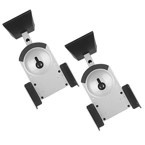NEG Lautsprecher-Halterung (Paar) Beam201-SI (Silber) Boxen-Rack/Träger neigbar/schwenkbar/drehbar (Tragkraft bis 25kg)