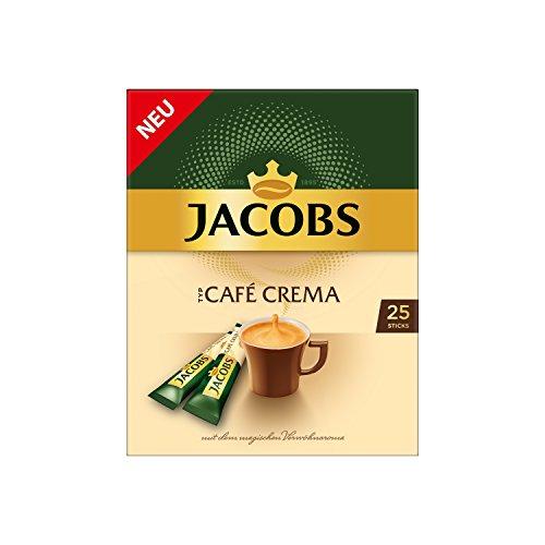 Jacobs löslicher Kaffee Café Crema, 25 Instant Kaffee Sticks für 25 Getränke