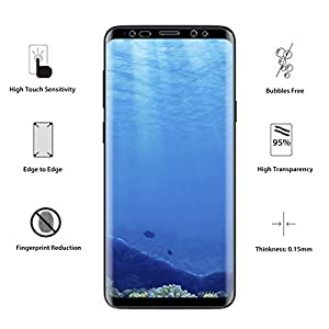 LK [3 PACK] for Samsung Galaxy S8 Screen Protector (Case Friendly), [Full Coverage] PET Soft Flexible TPU film with Lifetime Replacement Warranty-Clear