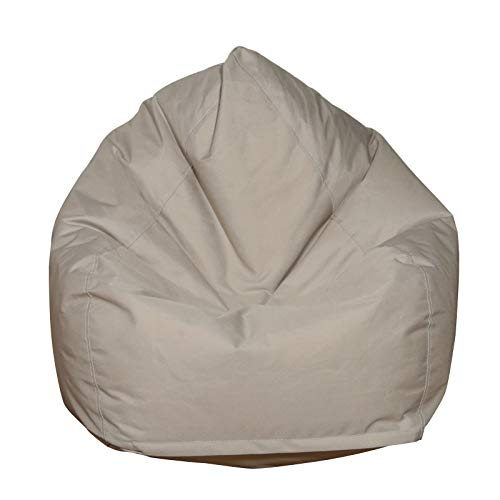 Bean Bag for Adults and Kids Chair Storage Bean Bag Oxford Chair Cover Indoor Living Room Bean Bag Sofa Couch Cover Without Filler (Camel, 60 cm* 65 cm)