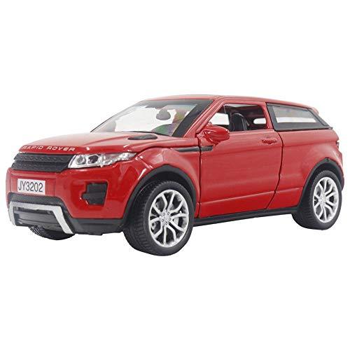 Voluxe Modelo de coche 1:32, modelo de coche para el hogar para los amantes de la joyería para la joyería para el reloj (rojo)