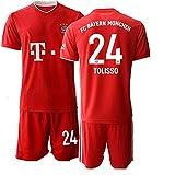 JEEG 20/21 Herren TOLISSO 24# Fußball Trikot Fans Jersey Trainings Trikots (L)
