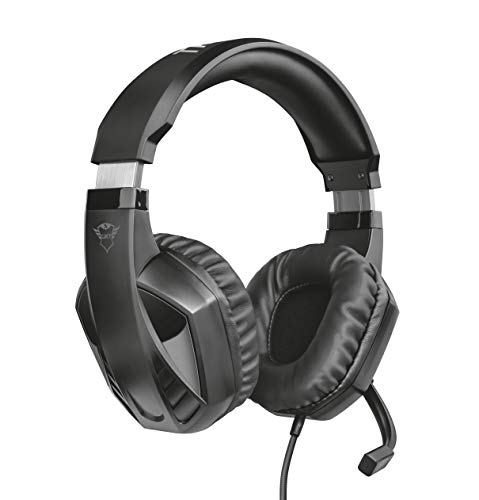 Trust Gaming Headset GXT 412 mit Mikrofon für PS4, PS5, PC, Nintendo Switch, Xbox Series X, Xbox One - Celaz Kabelgebundene Gaming-Kopfhörer mit Metallverstärkter Kopfbügel - Schwarz
