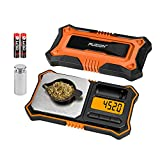 Fuzion Digital Pocket Scale, 200g x 0.01g Jewelry Gram Scale,6 Units Conversion, LCD Back-Lit Display, Use for Jewelry/Medicine/Food/Powder/Weed(Battery Included)