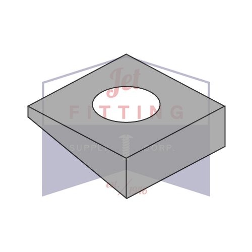 7/8 Square Beveled Washers | Hardened Steel | Plain | for use with A325 & A490 Structural Bolts | Made in U.S.A. (Quantity: 250)