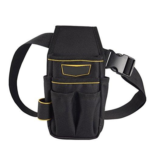Yardwe Werkzeugtasche, Multifunktions-Werkzeugset, Oxford-Stoff, kleines Werkzeugset für Elektriker, Motor, Mechaniker, Kleiderschrank, Schwarz und Gelb