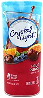 Crystal Light Fruit Punch Drink Mix (12-Quart), 2.04 Ounce Packages (Pack of 12)