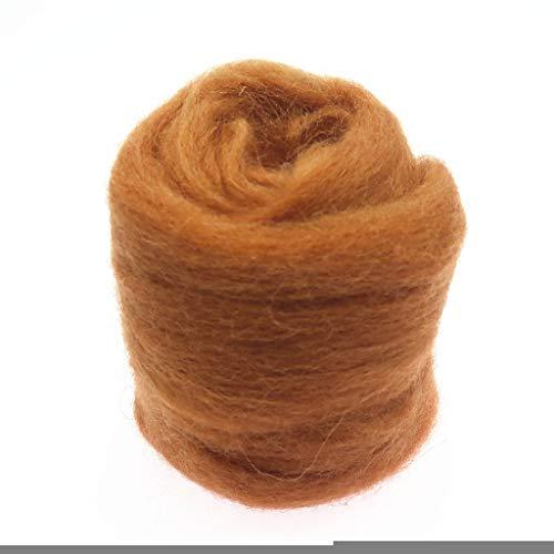 Qitao Wollfilz Farben 5g / 10g / 20g / 50g / 100g Filzwolle-Filz Stoff Filz Craft Spielzeug Filzwolle Handgemachte Filzen Craft (Color : 92, Size : 50g)