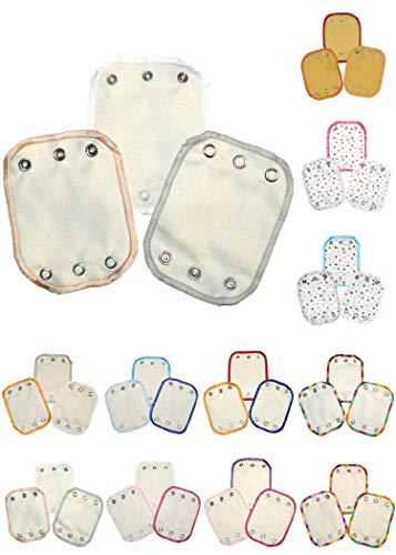 Bodyverlängerungen 3-er Set - Material: Bio Baumwolle - Farbe/Muster: Natur, Weiß/Beige/Grau