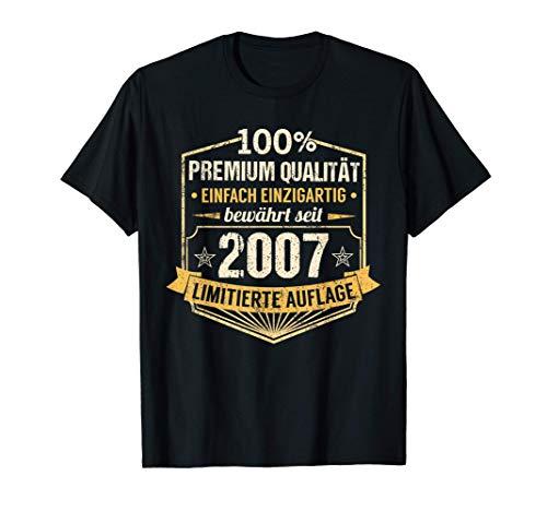 14. Geburtstag Junge Mädchen 14 Jahre 2007 Party Geschenk T-Shirt