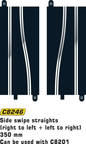 Scalextric C8246 Side Swipes 350 millimetre 1:32 Scale Accessory