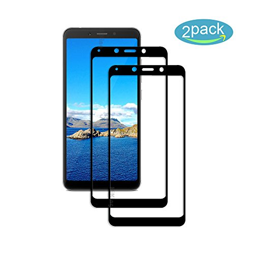 [2 Pack] Für Xiaomi Redmi 6/6A Panzerglas Schutzfolie (Schwarz), Bildschirmschutzglas Panzerfolie für Xiaomi Redmi 6/6A Schutzglas Folie [Ultra-Klar] [9H Festigkeit] [Kristallklar] [Bubble Free]
