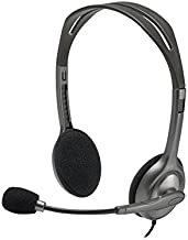 Logitech H111 Stero Headset, Black & Grey