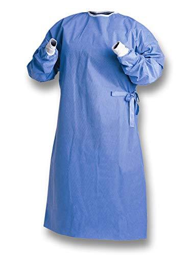 50x Sterile SMS Schutzkittel Pflegekittel OP-Kittel - Größe XL - Einwegschürze aus Vlies