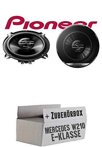 Lasse W210 Heck - Lautsprecher Boxen Pioneer TS-G1320F - 13cm 2-Wege 130mm PKW Koaxiallautsprecher Auto Einbausatz - Einbauset für Mercedes E-Klasse JUST SOUND best choice for caraudio