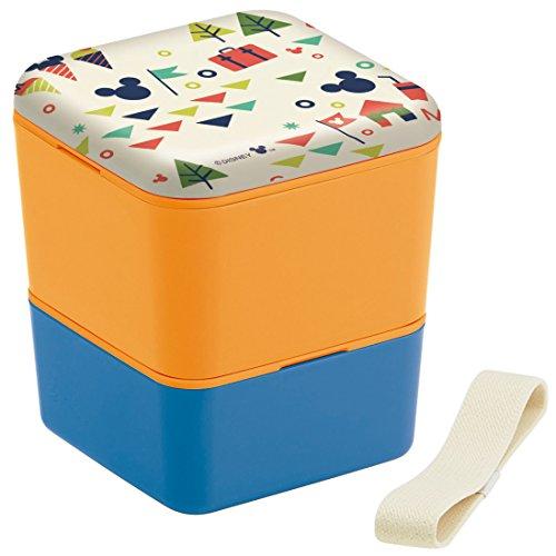 Skater Simple, boîte à Lunch 600ml boîte à Lunch 2 étages Couvercle de mélamine carré Mickey Mouse Disney Vacation Made in Japan SLBWS6M