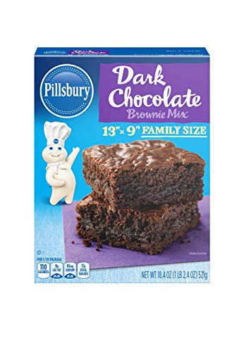 Pillsbury Family Size Dark Chocolate Brownie Mix, 18.4-Ounce (Pack of 12)