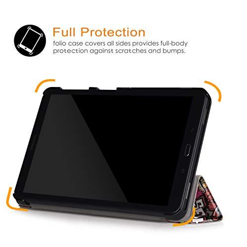 Xuanbeier Ultradünne Hülle Kompatibel mit Samsung Galaxy Tab A 10.1 2016 SM-T580/T585 (A6) Tablette Schutzhülle mit Ständer und Auto Schlaf/Wachen Funktion,Graffiti