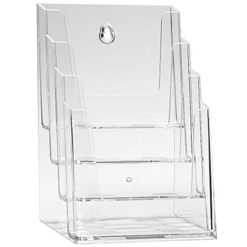 Espositore da tavolo, per brochure, formato DIN A5, con 4 piani, trasparente