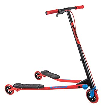 Yvolution Y Fliker Air A3 Kids Drifting Scooter | Swing Scooter for Boys and Girls Age 7+ Years  Red  Medium