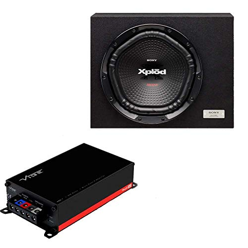 Sony Combo of XS-NW1202S Box Subwoofer (Black) and Vibe POWERBOX400.1M-V7 Class D, Mono 800 watts Micro Amplifier