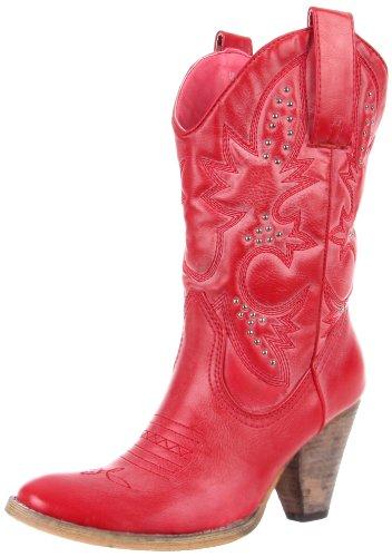 Very Volatile Women's Denver Boot,Ruby,10 B US