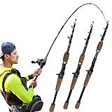 LFK caña de pescar mango de pistola de goma telescópico camino Aachen caliente carbono mar Pesca de la roca Pesca Rod de pesca al por mayor (tamaño: 2,1 m)