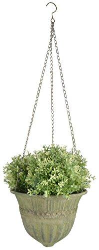 Esschert Design AM73Aged Metall grün Blumenampel, groß